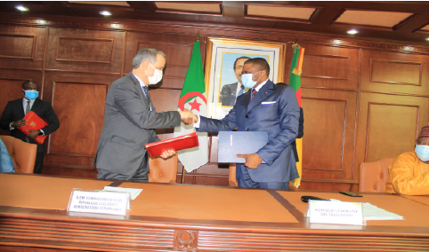 Signing of a bilateral agreement on air services between Cameroon and Algeria on the 24th of February 2021 in Yaounde.