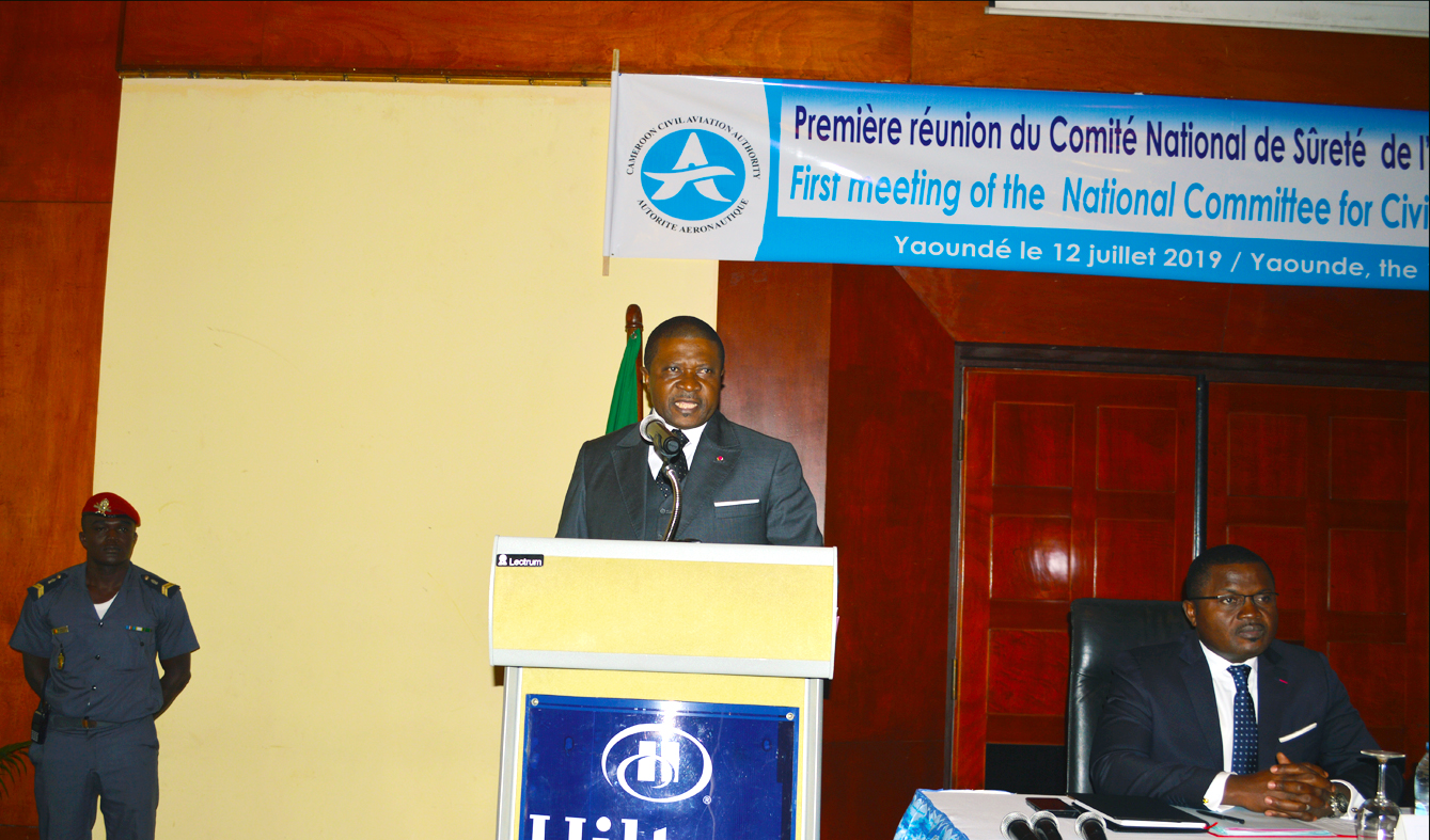 The Transport Minister at the opening of the first NCASC 2019 meeting – Yaounde July 12, 2019