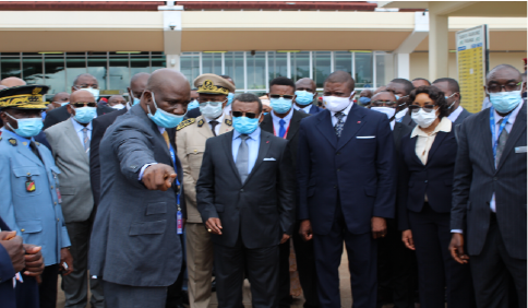 Prime Minister visits anti-covid 19 set-up at Nsimalen International Airport in Yaounde