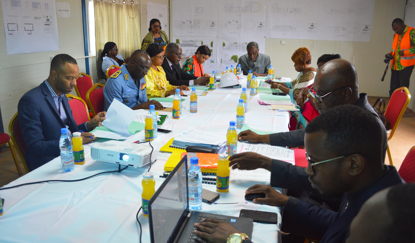 Steering Committee evaluation meeting of the construction of the CCAA's headquarters building-Yaounde June 12, 2019.