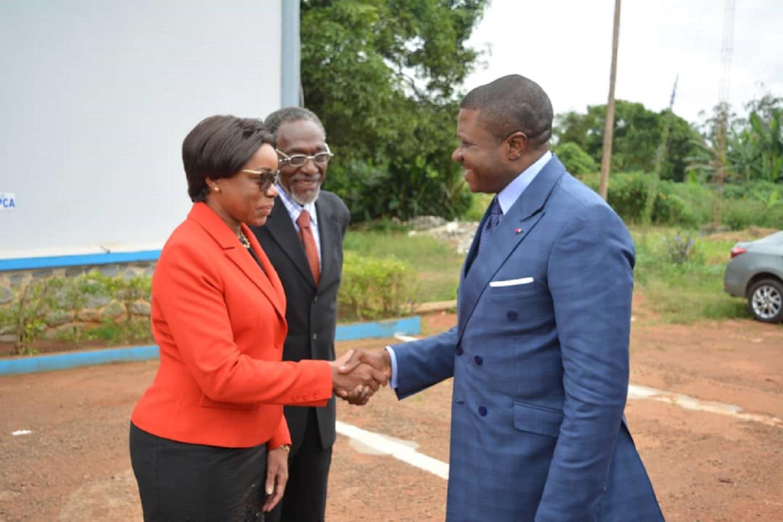 Visite de prise de contact du Ministre des Transports à la CCAA, Yaoundé- le 19 juin 2018.